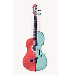 Morphed Violin and Guitar Icon vector image