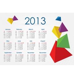 Calendar 2013 pyramid vector image vector image