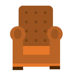 Comfortable couch isolated icon vector
