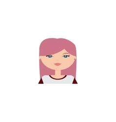 Cute woman face vector image vector image