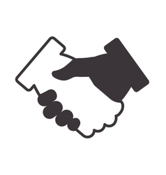 deal hand shake gesture business icon vector image vector image