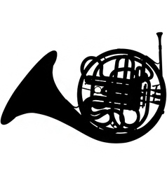 Fench horn silhouette vector