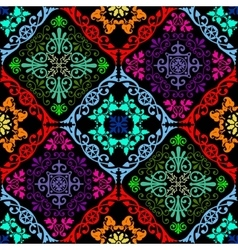 Fluorescent seamless tapestry vector
