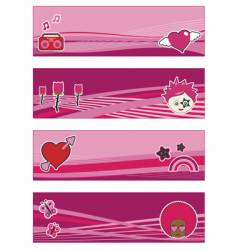 funky banners vector image vector image