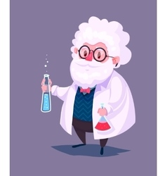 Funny scientist character Isolated vector image vector image