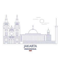 Jakarta city skyline vector