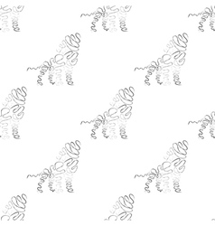 Lion seamless pattern vector