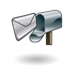 mailbox illustration vector image vector image