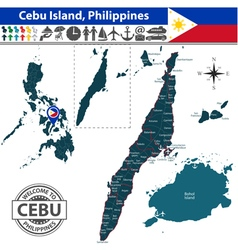 Map of Cebu island vector image