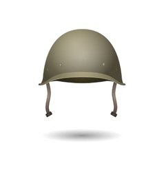 Military classical green helmet Infantry wear of vector image