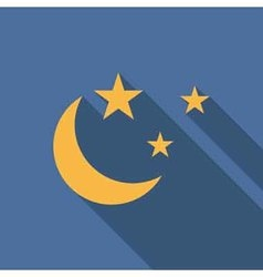 Moon and stars icon vector image