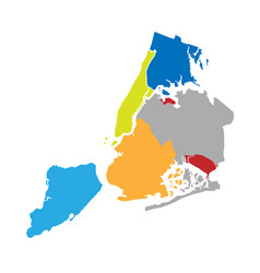 new york boroughs map nyc districts vector image