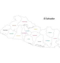 Outline El Salvador map vector image vector image