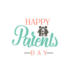 parents day badge design sticker stamp logo - vector image vector image
