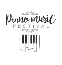 Piano live music concert festival black and white vector