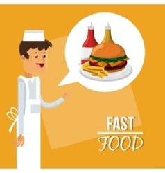 Pizza and fast food design vector image