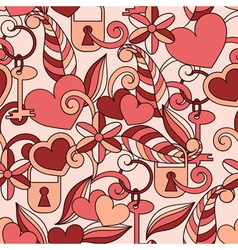 Seamless Valentines pattern vector image vector image