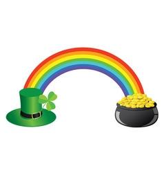 Shamrock rainbow vector