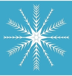 Snowflake icon flat style design elements vector image vector image
