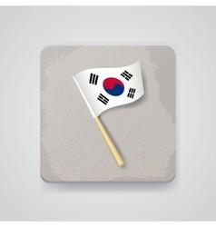 South Korea flag icon vector image vector image