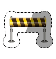 Dotted sticker street traffic barrier icon vector
