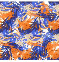 Abstract seamless pattern of paint strokes vector