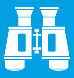 Binoculars icon white vector