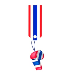 A thai whistle hanging on a stripe tag vector