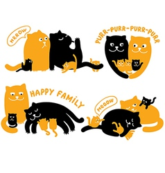 With family of cats vector