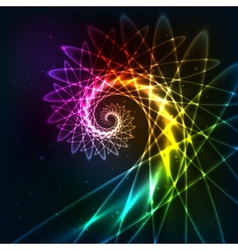Abstract rainbow fractal spiral background vector