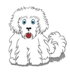 Cute Fluffy Cartoon Dog vector image