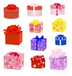gift box packs vector image