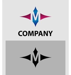 Alphabet icon m logo vector