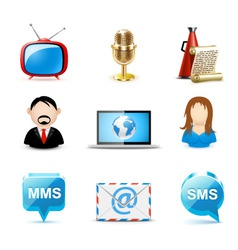 communication icons| bella vector image