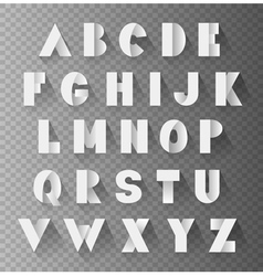 Alphabet paper set vector