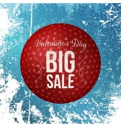 Round banner with valentines day big sale text vector