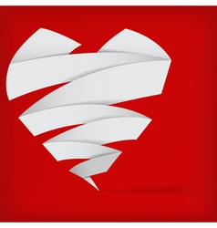 Abstract origami heart vector