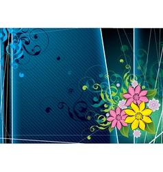 Retro floral vector