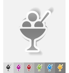 realistic design element ice cream vector image