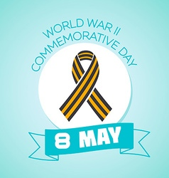 8 may world war ii commemorative day vector