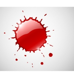 Red ink blob splash vector