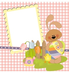 Cute template for easter postcard vector