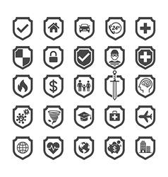 Insurance policy shield icon design vector image