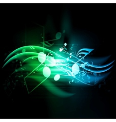 abstract musical background with notes vector image