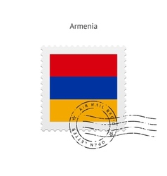 Armenia flag postage stamp vector