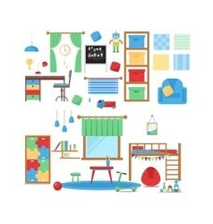 Boy baby room set vector image vector image