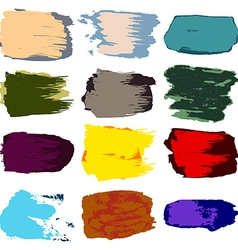 Brush stroke stain paint acrylic hand drawing vector