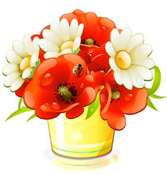bunch of flowers vector image vector image