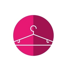 Clothing hanger hook vector