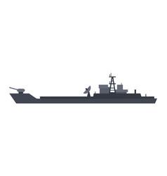 coast guard cutter flat design vector image
